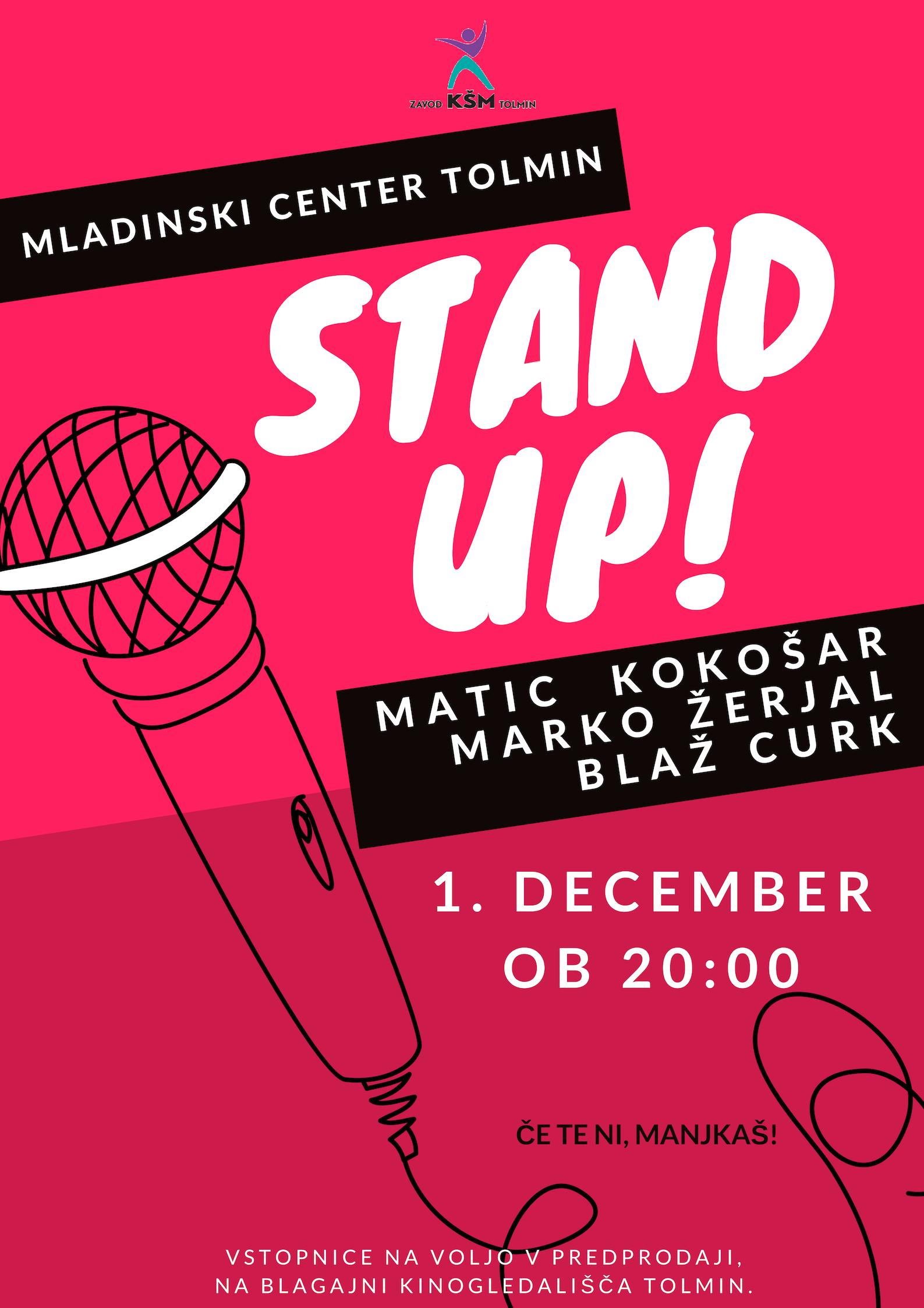 Večer stand up komedije