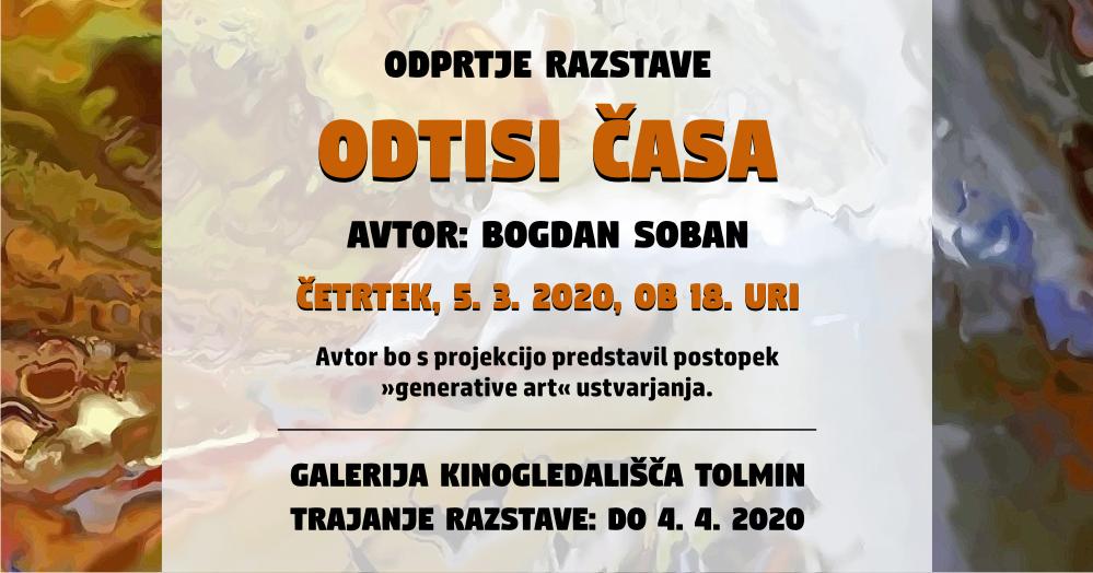 Likovna razstava ODTISI ČASA Bogdan Soban