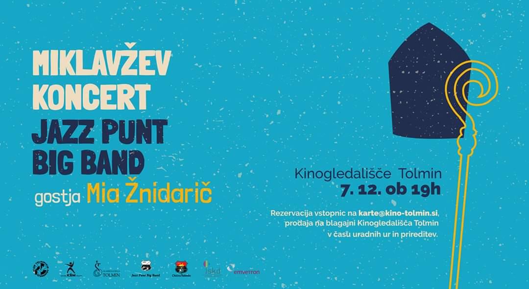 Miklavžev koncert: JAZZ PUNT BIG BAND IN MIA ŽNIDARIČ