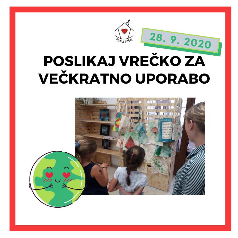 Poslikaj vrečko za večkratno uporabo (Ustvarjalna delavnica za otroke)