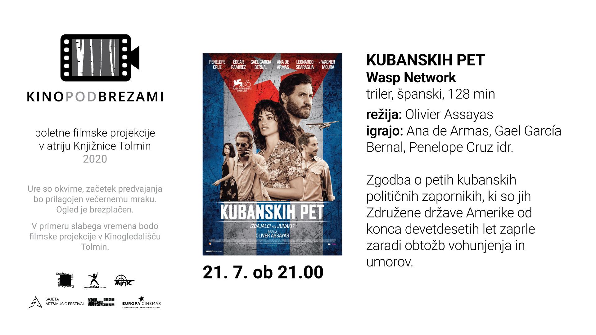 Kino pod brezami: KUBANSKIH 5 (triler)