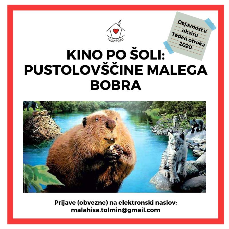 Kino po šoli: Pustolovščine malega bobra