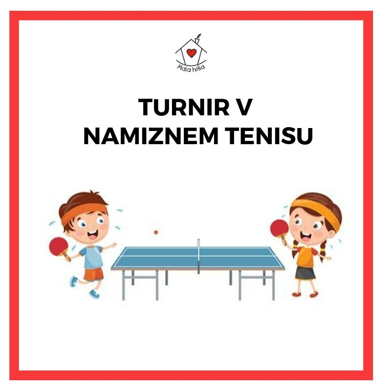 Turnir v namiznem tenisu za otroke