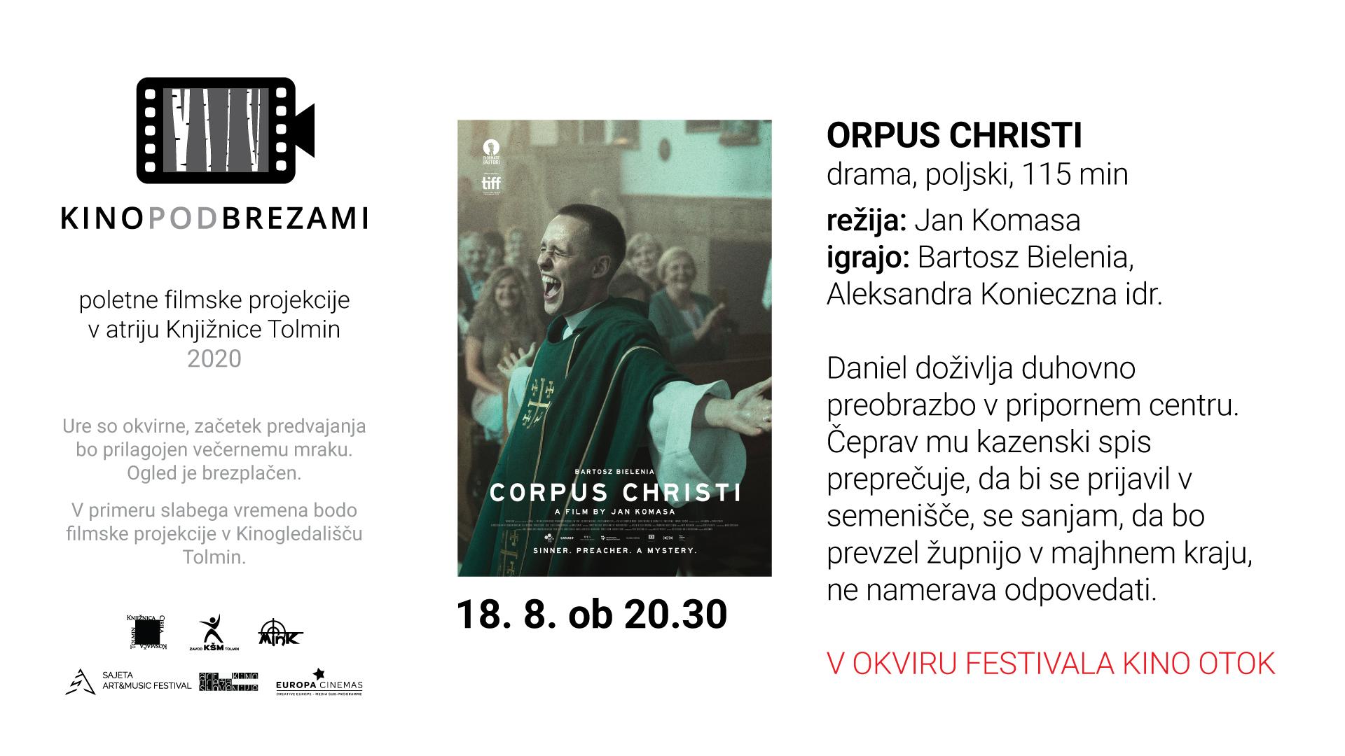 Kino pod brezami: CORPUS CHRISTI (drama, Kino Otok)