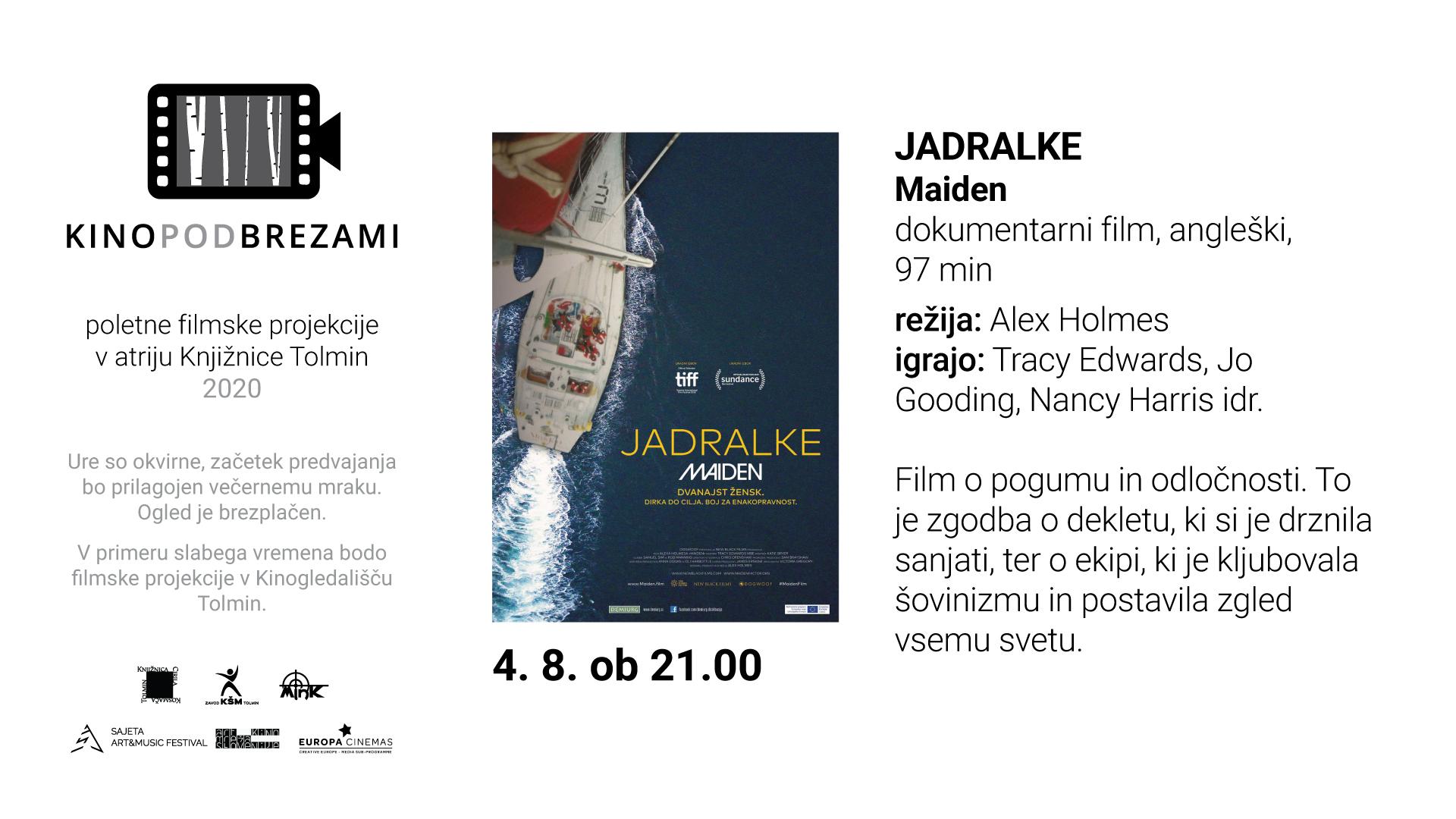 Kino pod brezami: JADRALKE (dokumentarec)
