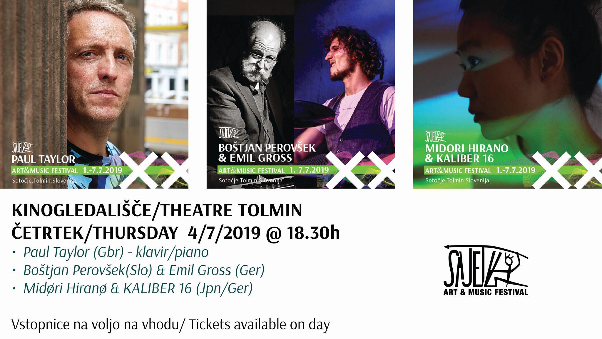PAUL TAYLOR, BOŠTJAN PEROVŠEK, MIDORI HIRANO (Sajeta 2019, koncerti)