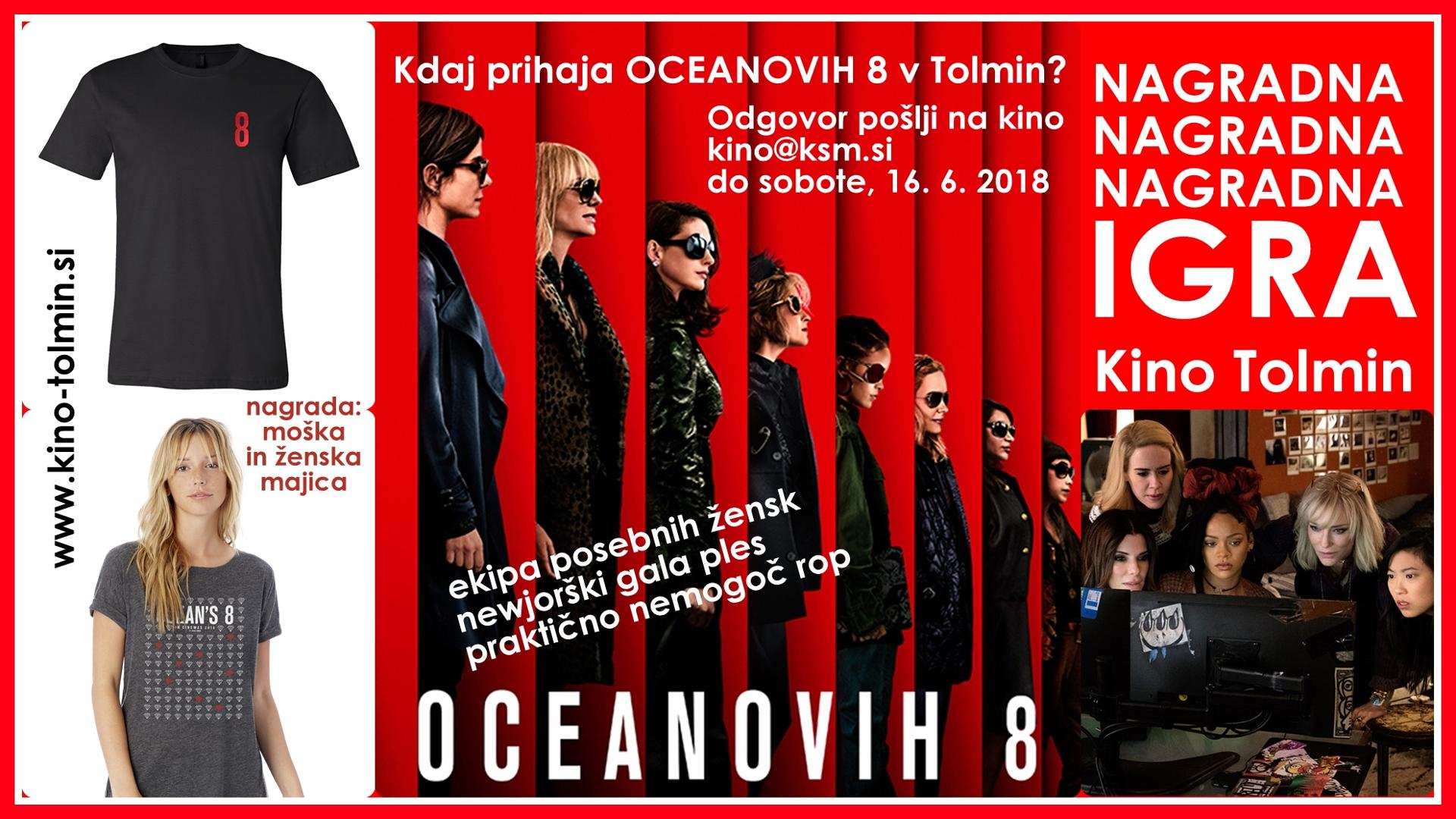 OCEANOVIH 8 (komični triler) NAGRADNA IGRA!