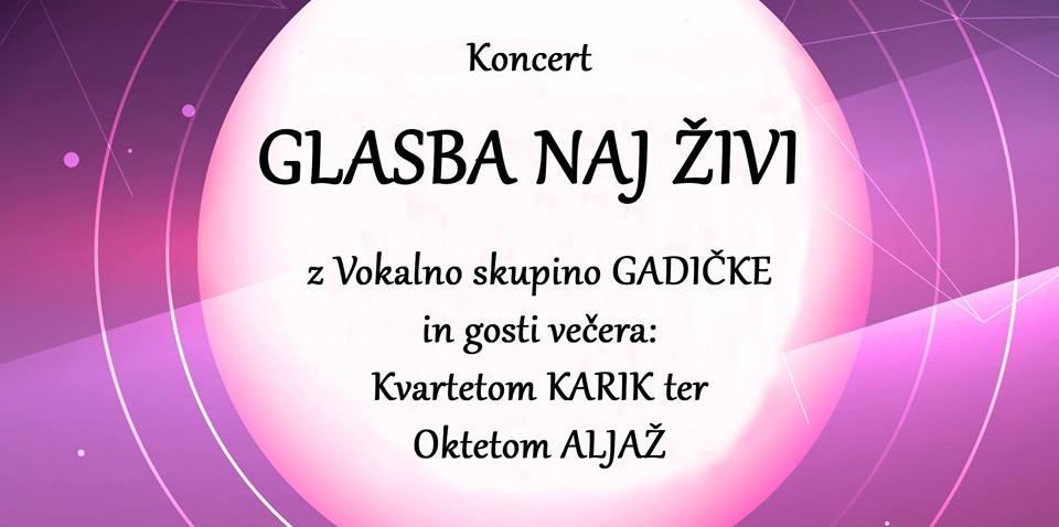 GLASBA NAJ ŽIVI (Vokalna skupina Gadičke)